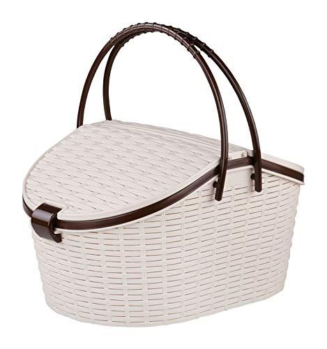 4Big.fun picknickmand picknickkoffer picknicktas rieten mand gevlochten boodschappenmand