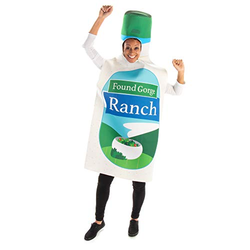 Ranch Bottle Halloween Costume – Funny Food Adult One Size Condiment Outfit