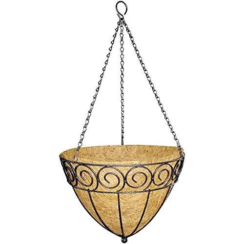 linoows Lampe Suspendue Spitzi, Panier à Plantes, Fleurs Ampel, Panier Suspendu avec Garniture de Coco