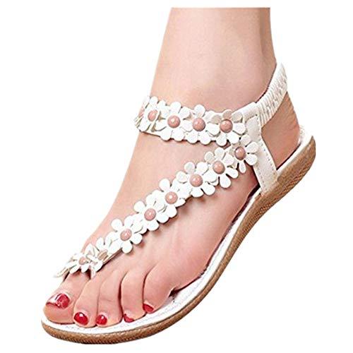 ZODOF Sandalias Verano Mujer Peep-Toe Zapatos Bajos