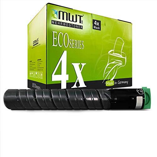 4X MWT Druckerpatronen für Ricoh MP C2051 C2051AD C2551AD ersetzt 842061 841587 TYPE-MPC2551E TYPEMPC2551E Black