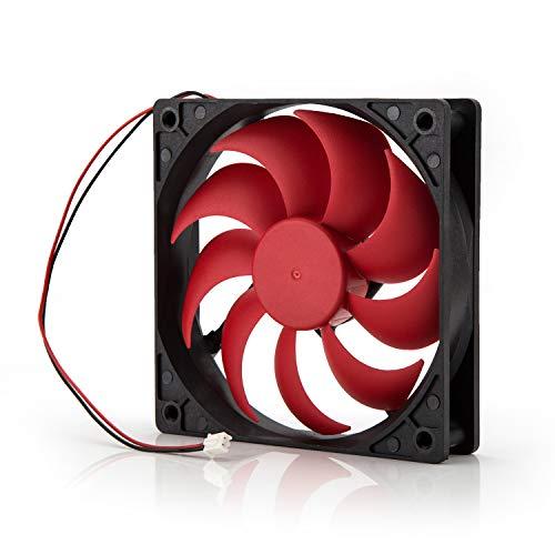 Neuftech 120x120mm Ventilador de CPU Cooling Cooler Fan para Caja de PC Ordenador 12V,Negro y Rojo