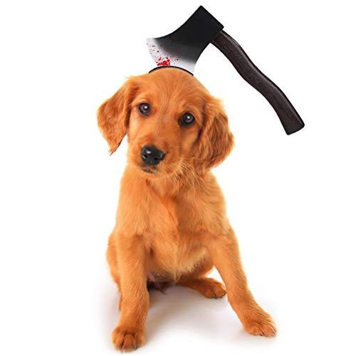 shenruifa Sombrero de moda 2021, para mascotas, accesorio para la cabeza de mascota, accesorio emocionante interesante para Halloween, divertido tocado para fiesta de Halloween