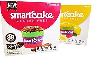 LEMON SMARTCAKE AND CINNAMON SMARTCAKE BUNDLE: GLUTEN FREE, SUGAR FREE, KETO FRIENDLY, LOW CARB SNACK CAKES: 4 packs (8 individual cakes)