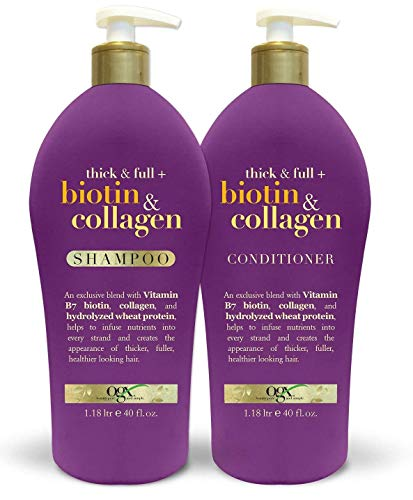OGX Thick & Full Biotin & Collagen Shampoo 40oz + Conditioner 40oz,