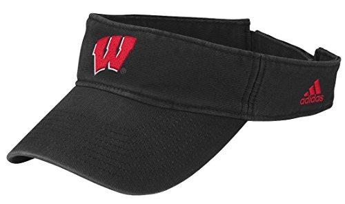 adidas Wisconsin Badgers NCAA Basic Logo Visor - Black