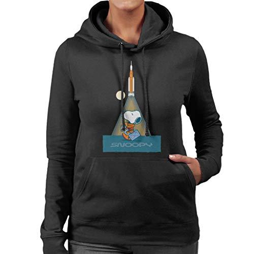 Pinda's Snoopy Astronaut Voorbereiding voor Take Off Vrouwen Hooded Sweatshirt