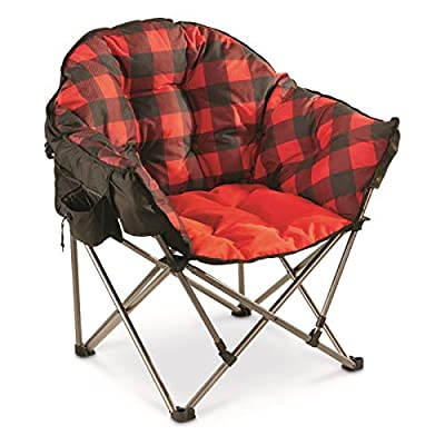 Guide Gear Oversized Club Camp Chair, 500-lb. Capacity, Red Plaid