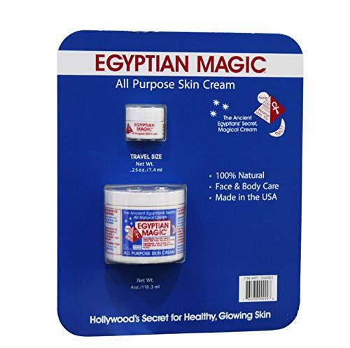 Egyptian Magic All Purpose Cream 4 oz + 0.5oz Travel size jars