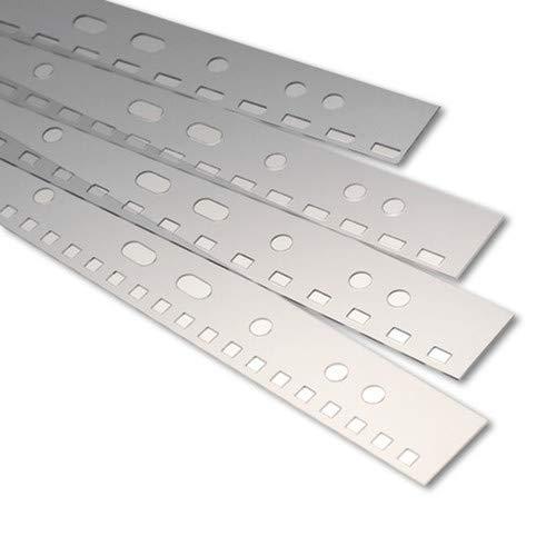 Renz Abheftstreifen in 3:1 Teilung Drahtkammbindung für DIN A4, 4 x 4 mm, Stärke 0.3 mm, transparent klar