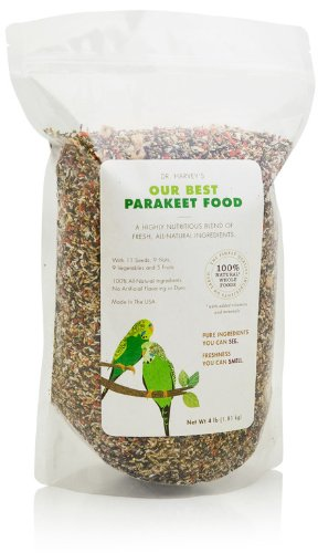 Dr. Harvey's Our Best Parakeet Blend, All Natural Daily Food for Parakeets (2 pounds)