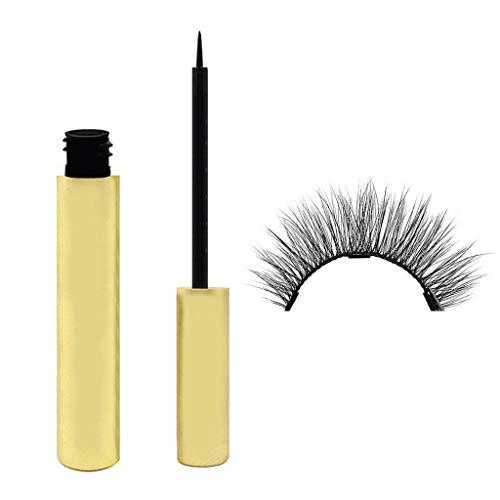 wyxhkj Eyeliner Liquide Longue Durée Magnétique Imperméable Et 1 paire de Faux Cils 3D (E6)