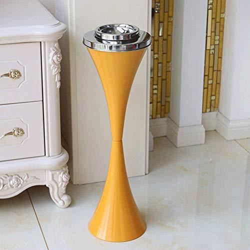 YXZN Posacenere per Sigarette in Metallo a Pavimento Posacenere Antivento Moderno Ed Elegante con Coperchio Portacenere per Fumatori Portacenere da Tavolo