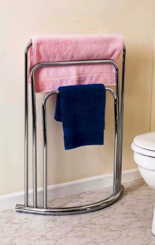Caraselle Bow Fronted 3 Rail Towel Stand f