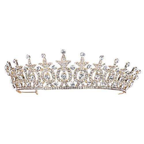 Lurrose Brillante Corona de Diamantes de Imitación Tiara de Boda Tocado de...