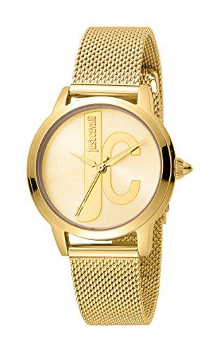 Just Cavalli Reloj Analógico para Mujer de Cuarzo con Correa en Acero Inoxidable JC1L050M0085
