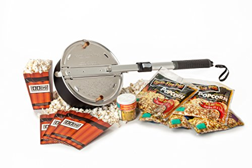 Check Out This Wabash Valley Farms - Open Fire Pop Gift Set - 5 Popcorn Kits - 4 Seasoning Sampler -...