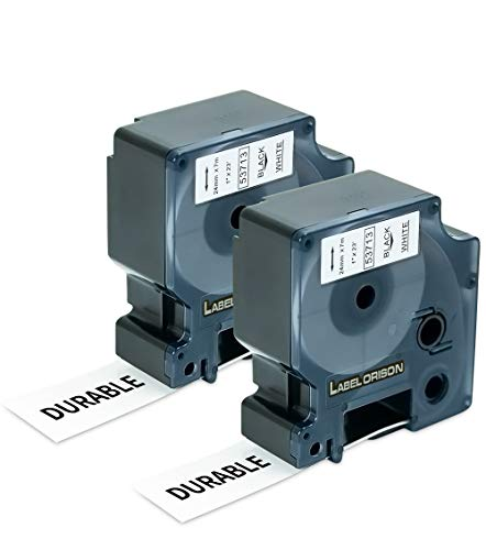 Label Orison Compatible with Dymo D1 Label Tape 24mm 53713 S0720930 Black on White Labels Cassette for Dymo LabelManager 420P 450D 500TS Wireless PnP LabelWriter,1 Inch (24mm) x 23 Feet,2 Cartridges