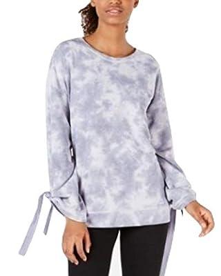 Ideology Womens Marled Yoga Sweatshirt Blue S