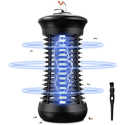 Lámpara Antimosquitos,1200V UV Lámpara Matamoscas Electrico,6W Lámpara Anti Mosquitos,Trampa Mosquitos Interior,Luz Antimosquitos...