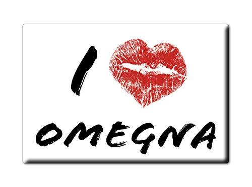 Enjoymagnets OMEGNA CALAMITA Magnete Piemonte (VB) Italia Fridge Magnet Souvenir I Love (VAR. Kiss)