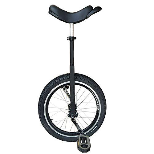 SSZY Einrad 20-Zoll-Kinder/Jugendliche/Große Kinder (165-178 cm) Einräder, Anfänger Outdoor Fitness Exercise Balance Radfahren, mit Auslaufsicherem Butylreifen (Color : Black)