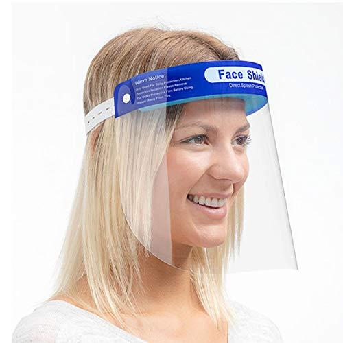Pantalla Protección Facial - Protector Facial de Seguridad, Cómoda, Visera Ajustable, Reutilizable, Ligera, Antivaho Azul- para Hombres, Mujeres y Niños (10)