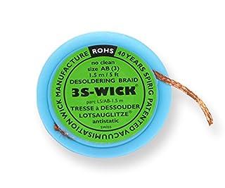 Spirig WICK2.2-1.5 3S-Wick Bobine de tresse à dessouder antistatique 2,2mmx1,5m (B00KX20MG2) | Amazon price tracker / tracking, Amazon price history charts, Amazon price watches, Amazon price drop alerts