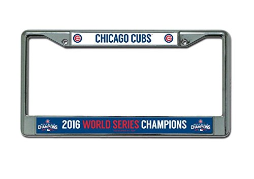 "Rico MLB Chicago Cubs World Series Chrome Frame, 12"", Blue"