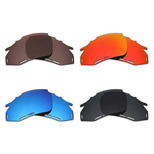 Mryok 4 Paar polarisierte Ersatzgläser für Rudy Project Fotonyk Sonnenbrillen – Stealth Black/Fire Red/Ice Blue/Bronze Brown