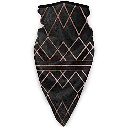 KKs-Shop Schicke und elegante Faux Rose Gold geometrische Dreiecke Unisex Variety Schal Wrap Bandanna Kopfbedeckung Hals Gamaschen Kopftuch Gesicht SFK-187