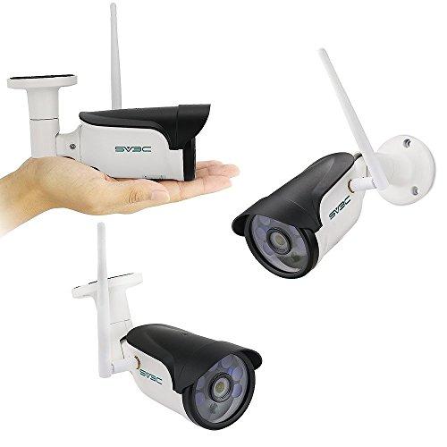 SV3C 1080P Überwachungskamera Aussen Wlan/IP66 Wlan IP Kamera mit Deutscher Anleitung,Bewegungserkennung,15m Nachtsicht,TF Karten und kompatibel mit Smartphones,Tablets und Windows PC
