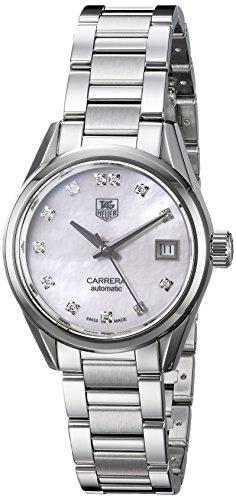 TAG Heuer de la mujer 'carrera' Swiss automático acero inoxidable reloj de vestido, color: silver-toned (modelo: war2414. ba0776)