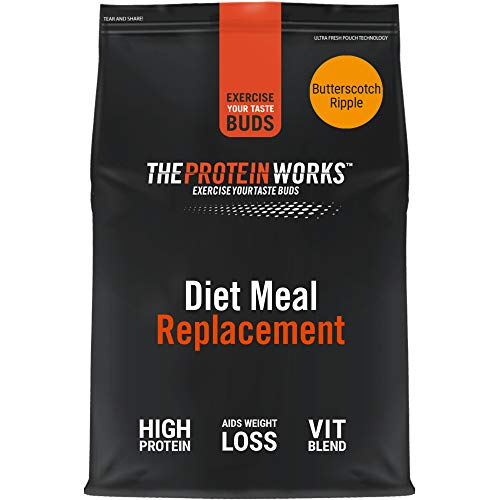 THE PROTEIN WORKS Diet Meal Replacement Shake | Nutrient Dense Complete Meal | Immunity Boosting Vitamins, Affortable | Healthy And Quick | Butterscotch Ripple | 1 kg