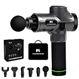 Fascia Massage Gun for Pain Relief, Birthday Gifts, Deep Tissue Therapy Equipment for Workout, Handheld Percussion Massager for Foot, Back, Legs with 6 Massage Heads 30 Speed Level, X3
