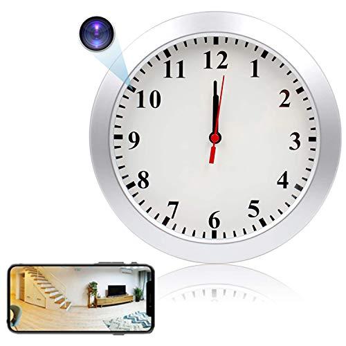 GEQWE Cámara De Reloj De Pared con WiFi, Cámara De Reloj HD De 1080P, Grabadora De Video, Cámara De Vigilancia, Niñera, con Detección De Movimiento PIR, para El Hogar Y La Oficina