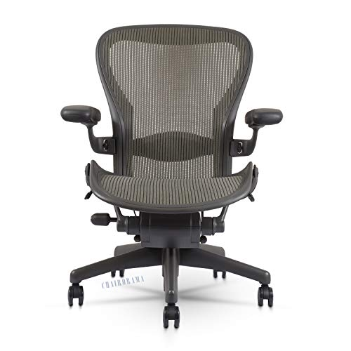 Herman Miller Classic Aeron Chair - Fully Adjustable, Carpet Casters, Size B (Open Box)