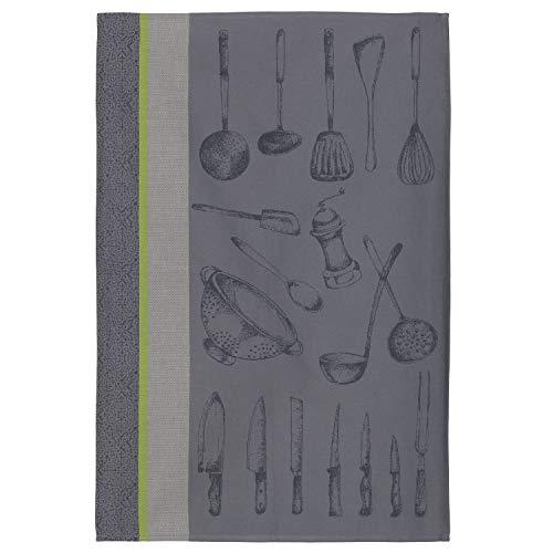 Coucke TNO-220-71117-000-CKE Torchon USTENSILES du Chef Gris, Coton, 50 x 75 cm