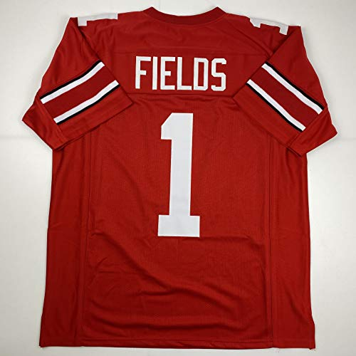Unsigned Justin Fields Ohio State Red Custom Stitched College Football Jersey Size Men's XL New No Brands/Logos