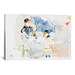 iCanvasART at The Beach in Nice by Berthe Morisot Canvas Art Print