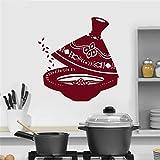 Retro Vintage Teaware Home Decor Art Utensilios de té Cocina Pegatinas de Pared Vinilo Removible Decoración del hogar DIY Cuisine Muraux 7 85X90 CM