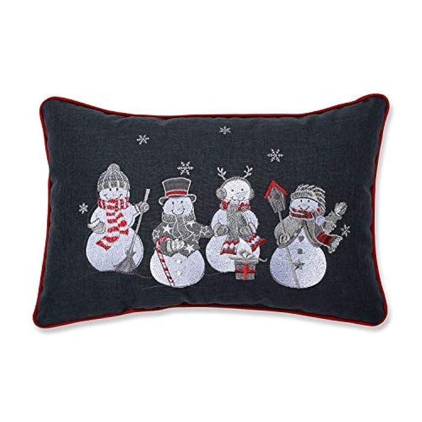 野ウサギモディッシュ角度Pillow Perfect Christmas Frosty & Friends Embroidered Lumbar Decorative Pillow 12