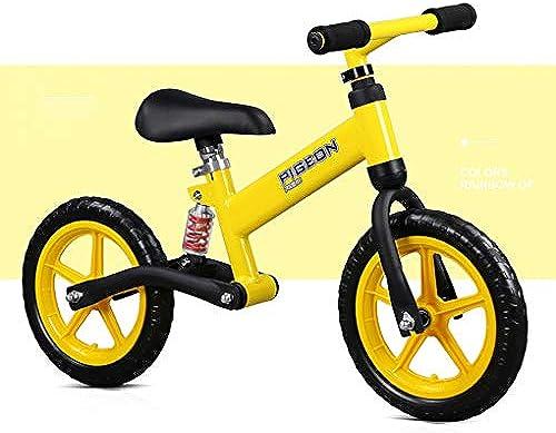 Kinder Laufrad FüR Jungen Und mädchen 2-6 Jahren Kein Pedal Reiten Lernen Schaumrad Verstellbarer Sitz Stoßdämpfer Kohlenstoffstahl Sport Walking Bike Laufen fürrad