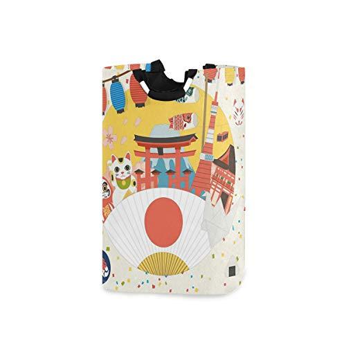 COFEIYISI Cesto para la Colada,Patrón Comercial Inspirado en Japón Varios artículos de Cultura asiática Cool Cat Origami,Plegable Cestas Bolsas Almacenamiento