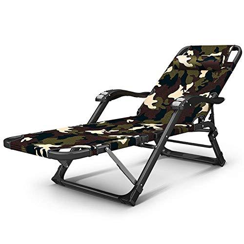WYX Klappliegestuhl Outdoor Camping Bett Liegestuhl Garten Strandkorb Sitzen/Liegen Angeln Liegestuhl Für Camping,b
