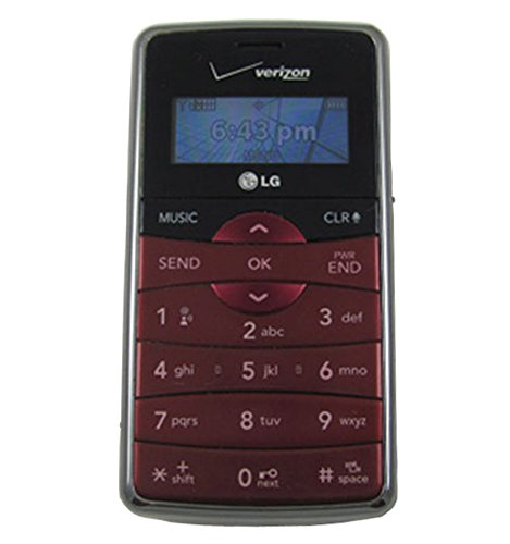 Verizon LG enV2 VX9100 No Contract 3G Camera QWERTY MP3 Cell Phone Maroon