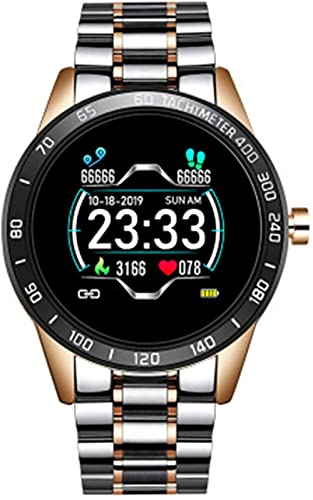 TYUI Reloj Inteligente Hombres Información Recordatorio Deportes Impermeable Reloj Inteligente para Android IOS Teléfono-D