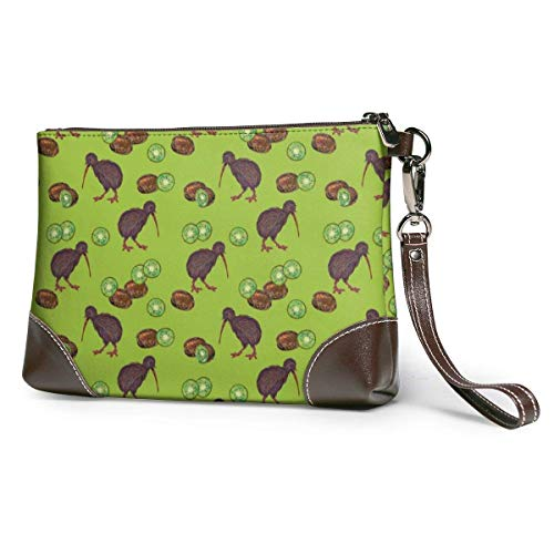 pochette in pelle da donna Kiwi Birds And Kiwi Fruits Under...