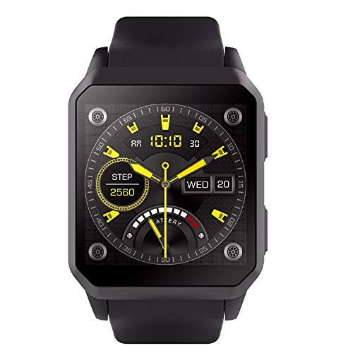 Reloj de teléfono Inteligente 3G con WiFi GPS smartwatch de la Tarjeta sim con Monitor de Ritmo cardíaco Android 5.1 IP68 Impermeable NFC Bluetooth Reloj de Pulsera