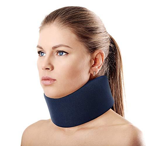 ORTONYX 3.5' Ergonomic Cervical Collar/Neck Support Brace / ACNS03 Dark Blue Large